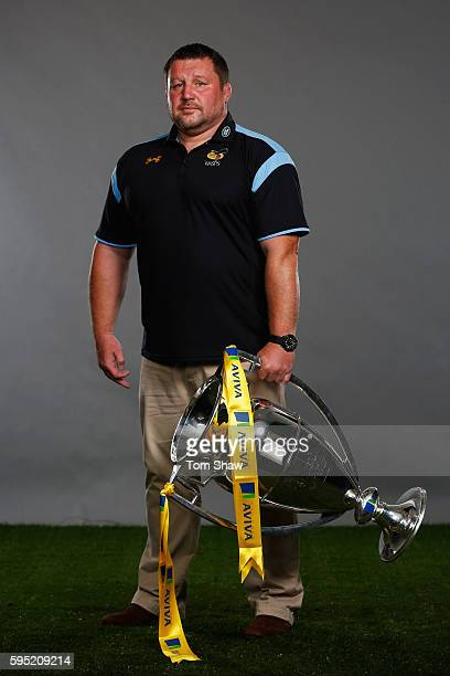 Dai Young Director of Rugby at Wasps poses for a portrait during the Aviva Premiership Rugby 20162017 Season Launch at Twickenham Stadium on August...