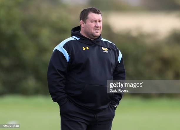 Dai Young the Wasps director of rugby looks on during the Wasps training session held at their training venue on October 10 2017 in Coventry England