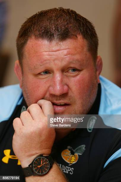 Dai Young Wasps Director of Rugby speaks to the media during the Aviva Premiership 2017/18 Launch at Twickenham Stadium on August 24 2017 in London...