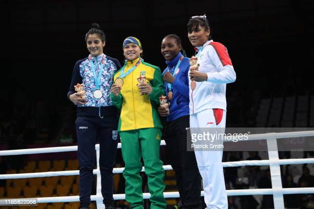 Daiana Sanchez of Argentina Beatriz Iasmim Soares of Brazil Rashida Ellis of United States and Esmeralda Falcon of Mexico in the podium of Women's...