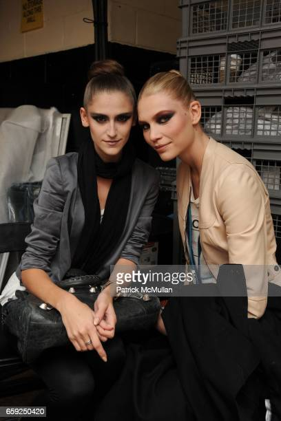 Daiane Conterato and Aline Weber attend MARC JACOBS Fall 2009 Collection at NY State Armory on February 16 2009 in New York City