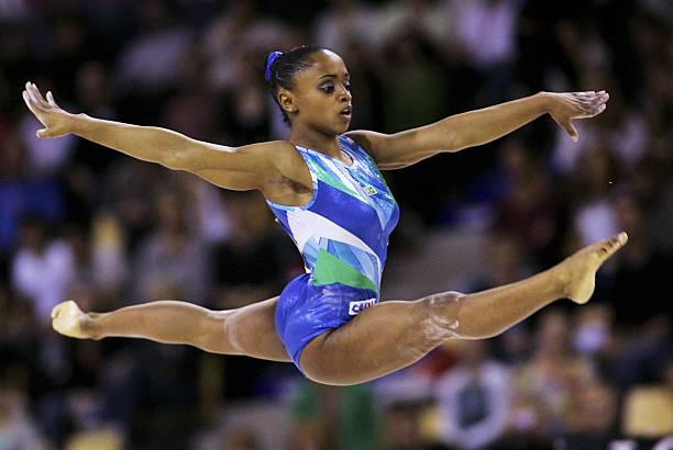 Daiane Dos Santos Of Brazil Performs On The Floor In Womens Individual Finals During