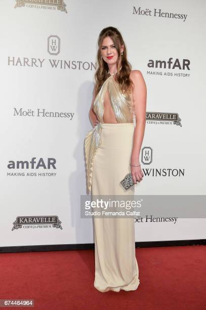 Daiane Maurer attends the 7th Annual amfAR Inspiration Gala on April 27 2017 in Sao Paulo Brazil