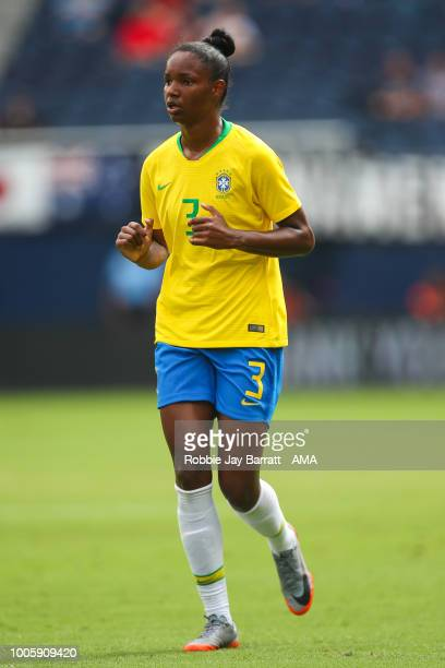 Daiane of Brazil during the 2018 Tournament Of Nations women match between Australia and Brazil at Children's Mercy Park on July 26 2018 in Kansas...