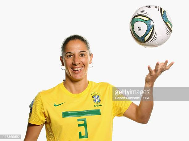 Daiane of Brazil during the FIFA portrait session on June 26 2011 in Dusseldorf Germany