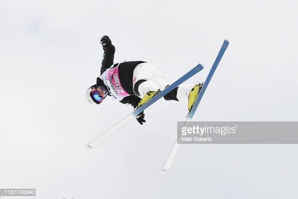 Daichi Hara of Japan competes during day two of the Men's FIS Freestyle Skiing World Cup Tazawako on February 24 2019 in Senboku Akita Japan
