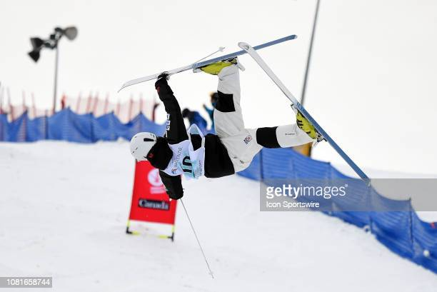 Daichi Hara of Japan competes during the FIS Freestyle Moguls World Cup on January 12 at the Winsport Canada Olympic Park in Calgary AB
