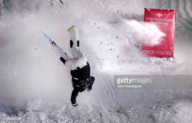 Daichi Hara of Japan crashes during the Men's Dual Moguls Final of the FIS Freestyle Ski World Championships on February 09 2019 at Deer Valley...