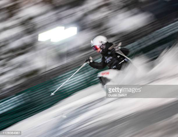 Daichi Hara of Japan during the Men's Moguls Final of the FIS Freestyle Ski World Championships on February 8 2019 at Deer Valley Resort in Park City...