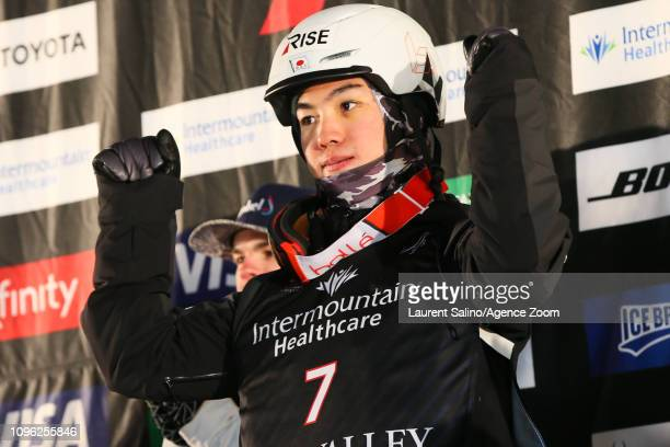 Daichi Hara of Japan wins the bronze medal during the FIS World Freestyle Ski Championships Men's and Women's Moguls on February 8 2019 in Park City...