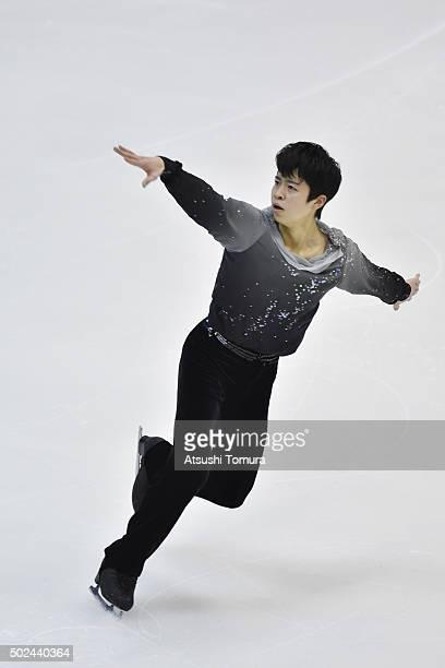 Daichi Miyata of Japan competes in the Men short program during the day one of the 2015 Japan Figure Skating Championships at the Makomanai Ice Arena...
