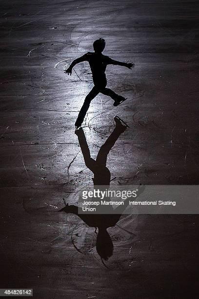 Daichi Miyata of Japan skates during Men's Practice on August 22 2015 in Bratislava Slovakia