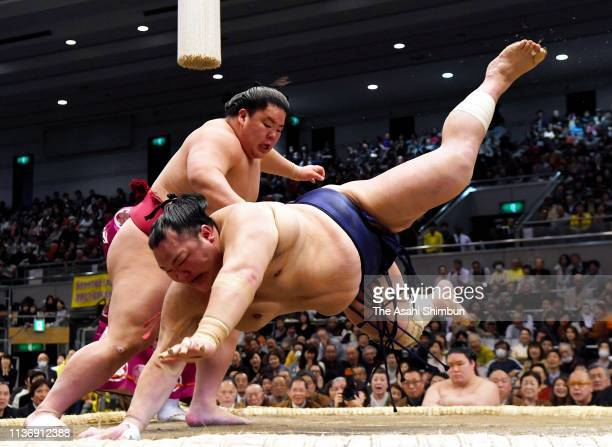 JPN: Grand Sumo Spring Tournament - Day 10