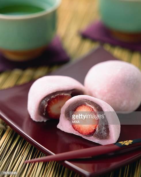 Daifuku with strawberry