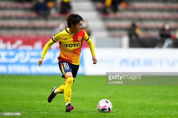 Daigo TAKAHASHI of Giravanz Kitakyushu in action during the J.League Meiji Yasuda J2 match between Giravanz Kitakyushu and Fagiano Okayama at Mikuni...