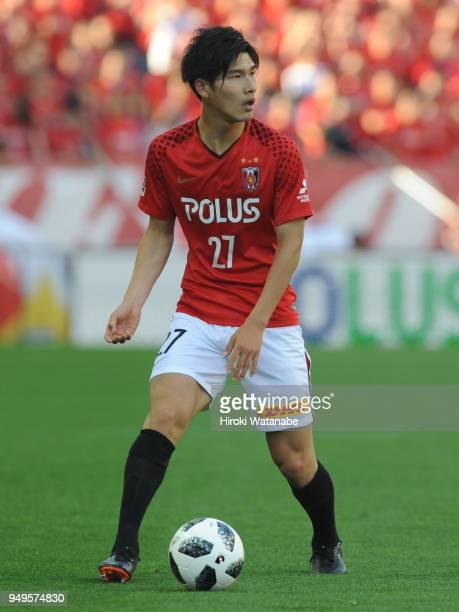 Daiki Hashioka of Urawa Red Diamonds in action during the JLeague J1 match between Urawa Red Diamonds and Consadole Sapporo at Saitama Stadium on...