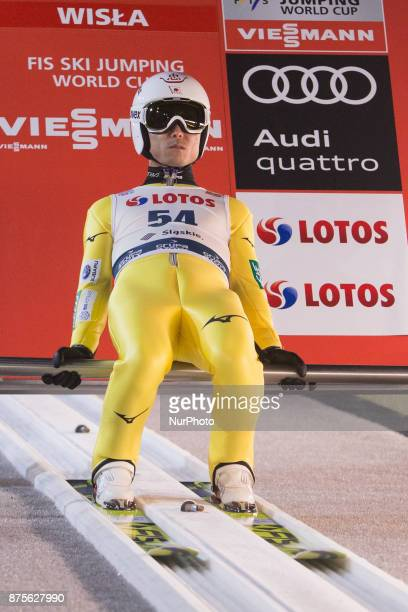 Daiki Ito competes in the training session during the FIS Ski Jumping World Cup on November 17 2017 in Wisla Poland