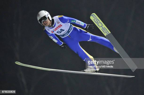 Daiki Ito competes in the training session during the FIS Ski Jumping World Cup on November 17 2017 in Wisla Poland 'n