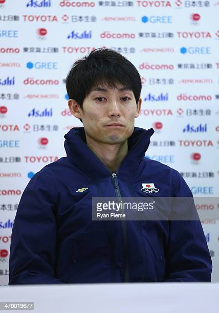 Daiki Ito of Japan attends a Japanese medalist press conference at Japan House on day 11 of the Sochi 2014 Winter Olympics on February 18 2014 in...