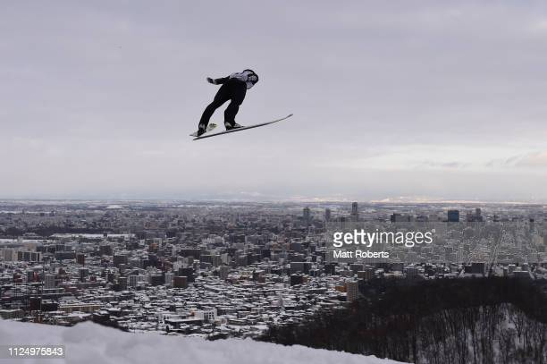 Daiki Ito of Japan competes during day one of the FIS Ski Jumping World Cup Sapporo at Okurayama Jump Stadium on January 26 2019 in Sapporo Hokkaido...