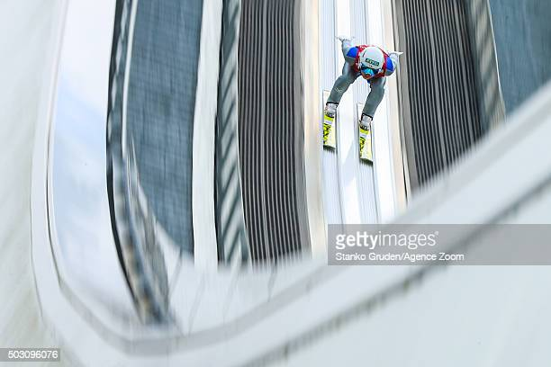Daiki Ito of Japan competes during the FIS Nordic World Cup Four Hills Tournament on January 1 2016 in GarmischPartenkirchen Germany