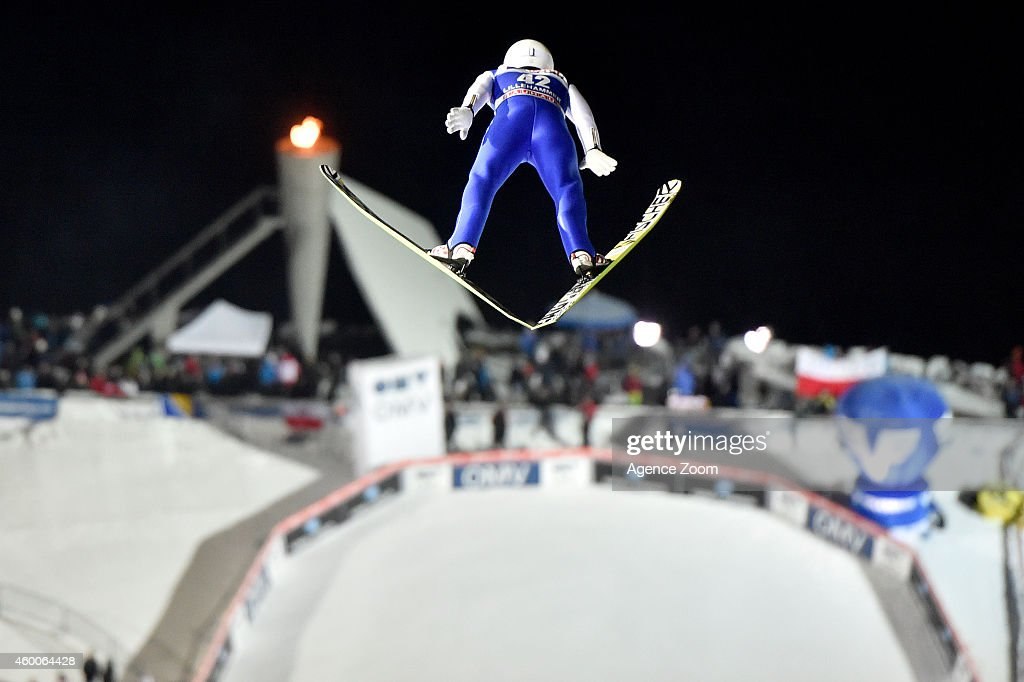 Daiki Ito of Japan competes during the FIS Ski Jumping World Cup Men's HS138 on December 06, 2014 in Lillehammer, Norway.