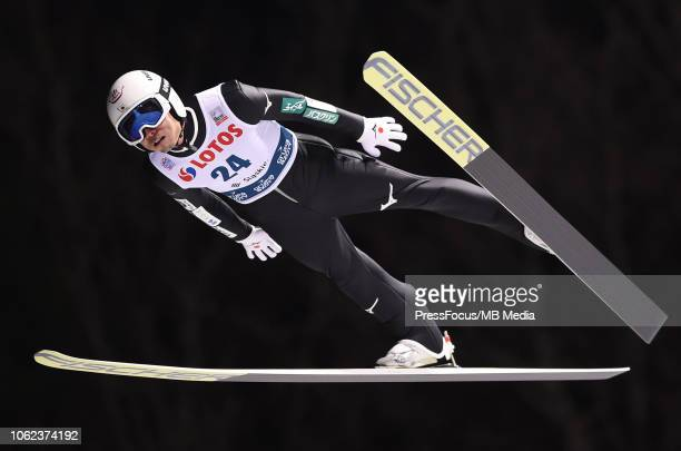 Daiki Ito of Japan competes during the Ski Jumping Men's HS134 Individual Qualification on November 16 2018 in Wisla Poland