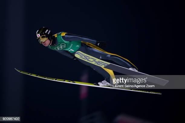 Daiki Ito of Japan competes during the Ski Jumping Men's Team at Alpensia Ski Jumping Center on February 19 2018 in Pyeongchanggun South Korea