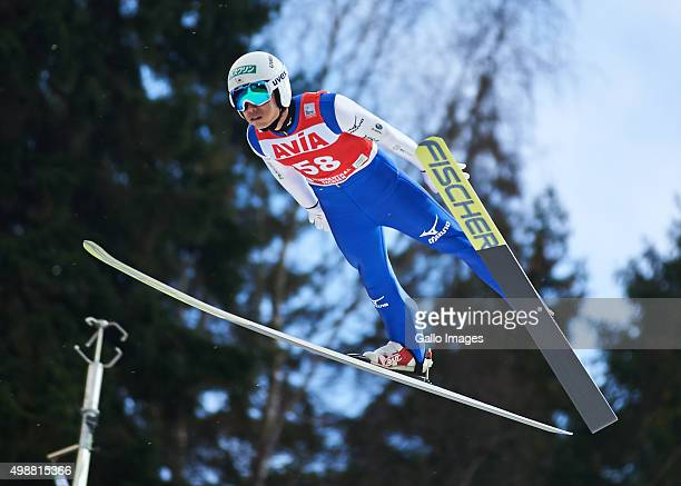 Daiki Ito of Japan competes in the 1st round of FIS Ski Jumping World Cup mens competition on November 22 2015 in Klingenthal Germany