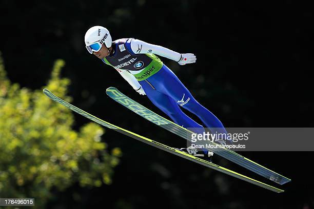 Daiki Ito of Japan competes in the FIS Ski Jumping Grand Prix Mens Training Session on August 14 2013 in Courchevel France