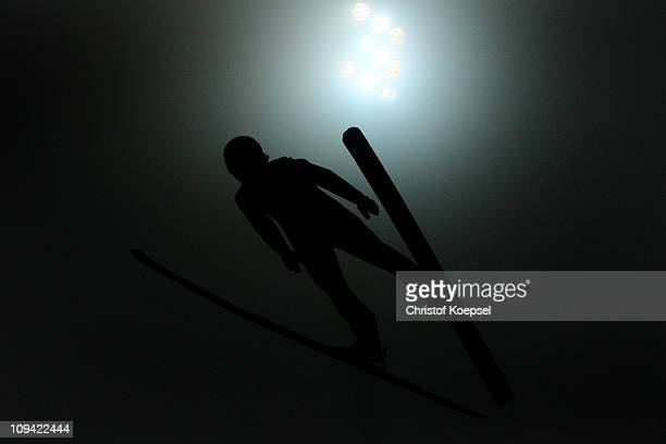 Daiki Ito of Japan competes in the Men's Ski Jumping HS106 Qualification round during the FIS Nordic World Ski Championships at Holmenkollen on...