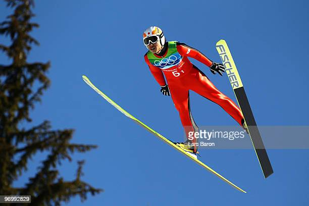 Daiki Ito of Japan competes in the men's ski jumping team event on day 11 of the 2010 Vancouver Winter Olympics at Whistler Olympic Park Ski Jumping...