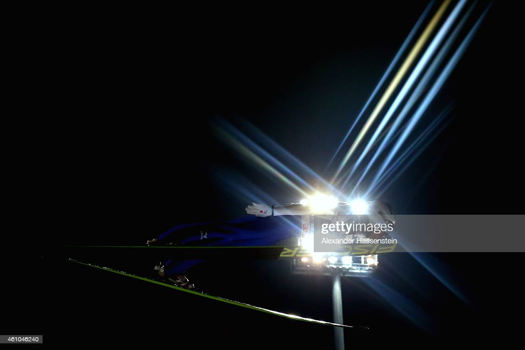 Daiki Ito of Japan competes on day 7 of the Four Hills Tournament Ski Jumping event at Paul-Ausserleitner-Schanze at Sepp-Bradl-Stadion on January 5, 2015 in Bischofshofen, Austria.