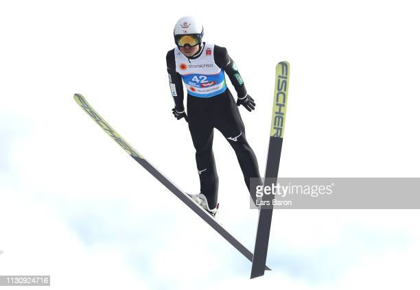 Daiki Ito of Japan during Ski Jumping training ahead of the Stora Enso FIS World Ski Championships on February 20 2019 in Innsbruck Austria