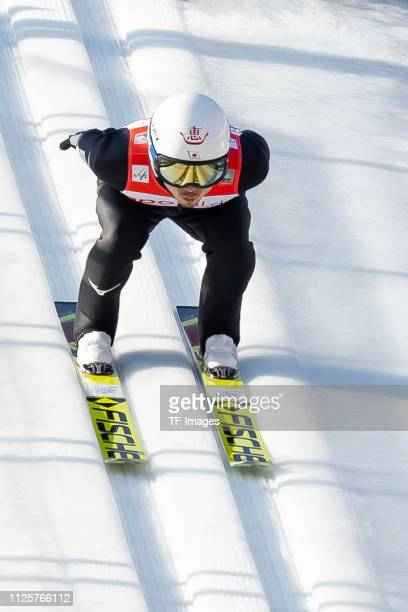 Daiki Ito of Japan in action during the FIS Ski Jumping World Cup on February 17 2019 in Willingen Germany
