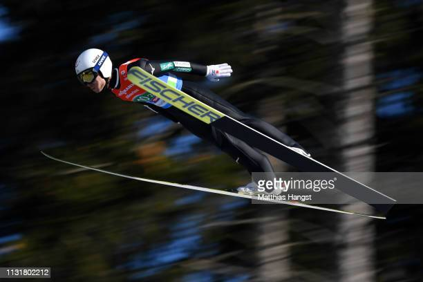 Daiki Ito of Japan jumps in the Men's Team Ski Jumping HS130 competition at Bergisel Schanze during the FIS Nordic World Ski Championships on...