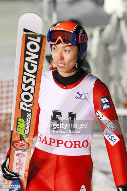 Daiki Ito of Japan looks on during the qualification of the FIS Ski Jumping World Cup Sapporo at Okurayama Jump Stadium on January 20 2006 in Sapporo...