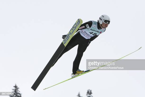 Daiki Ito of Japan was man of the day during the Individual Large Hill competition of the FIS Ski Jumping World Cup on December 18, 2009 in...