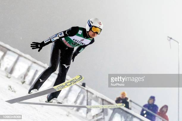 Daiki Ito participates in FIS Ski Jumping World Cup Large Hill Individual training at Lahti Ski Games in Lahti Finland on 8 February 2019