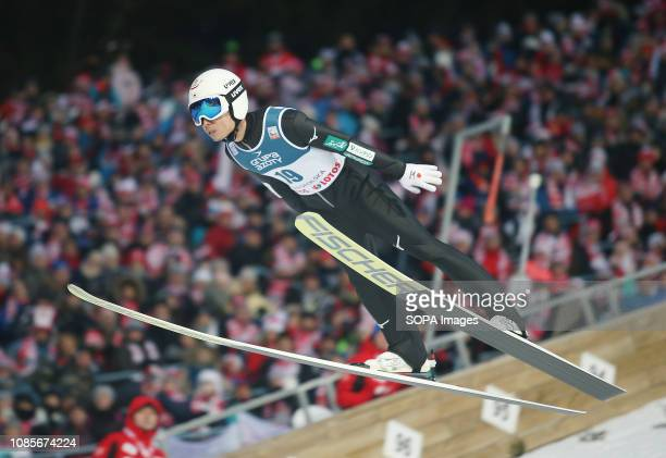 Daiki Ito seen in action during the individual competition of the FIS Ski Jumping World Cup in Zakopane
