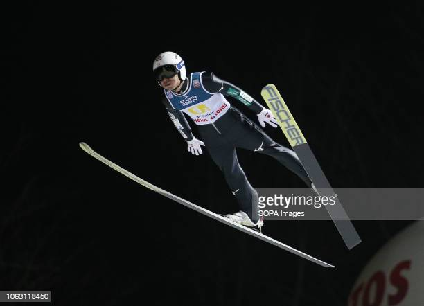 Daiki Ito seen in action during the team competition of the FIS Ski Jumping World Cup in Wisla