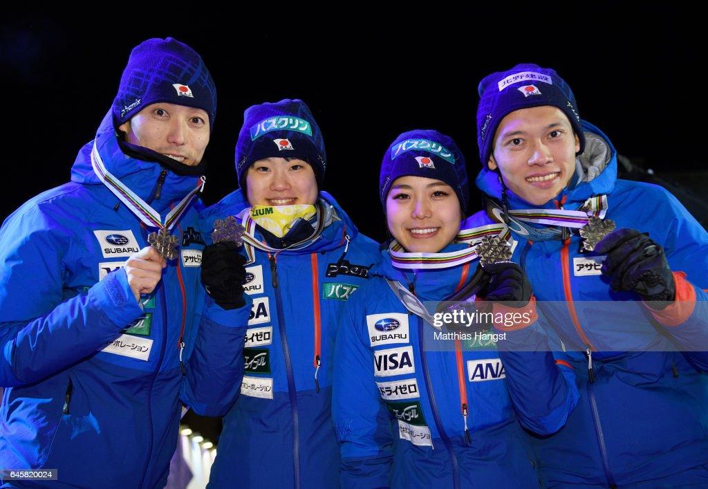 FIS Nordic World Ski Championships - Mixed Team Ski Jumping HS100 : ニュース写真