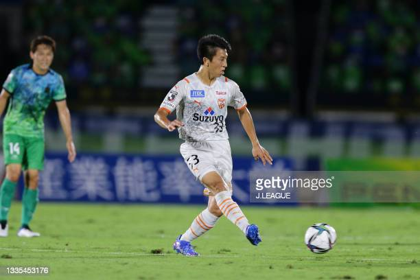 Daiki MATSUOKA of Shimizu S-Pulse in action during the J.League Meiji Yasuda J1 match between Shonan Bellmare and Shimizu S-Pulse at the Lemon Gas...