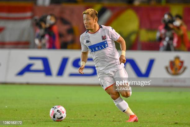 Daiki SUGA of Consadole Sapporo in action during the J.League Meiji Yasuda J1 match between Nagoya Grampus and Consadole Sapporo at Paloma Mizuho...