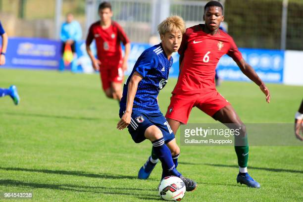 Daiki Suga of Japan during U20 match between Portugal and Japan of the International Football Festival tournament of Toulon on May 31 2018 in...
