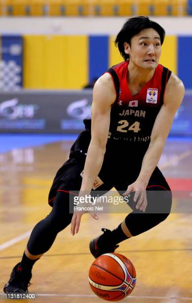 Daiki Tanaka of Japan in action during the FIBA World Cup Asian Qualifier match between Qatar and Japan on February 24 2019 in Doha Qatar