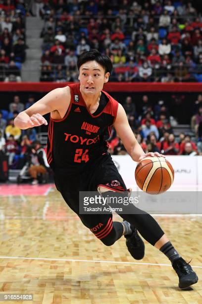 Daiki Tanaka of the Alvark Tokyo drives to the basket during the BLeague match between Alverk Tokyo and Kawasaki Brave Thunders at the Arena...