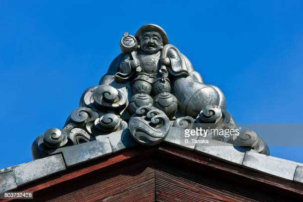 Daikokuten God of Fortune Rooftile in Kyoto, Japan