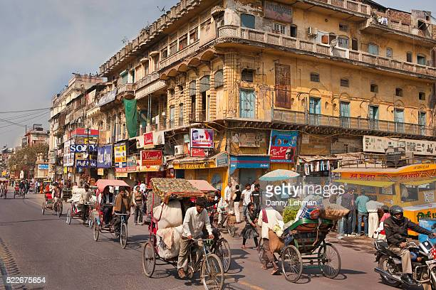 daily activity in old delhi shows congestion, overpopulation and lifestyle - delhi stock pictures, royalty-free photos & images