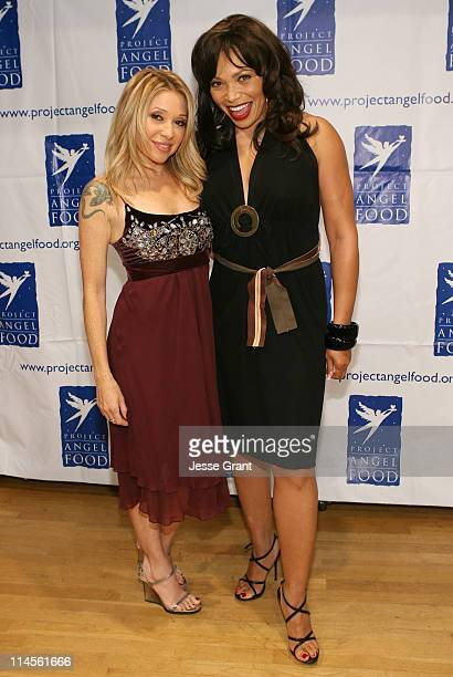 EG Daily and Tisha Campbell Martin during inCONCERT Benefit for Project Angel Food at Howard Fine Theater in Hollywood California United States